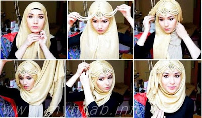 Tutorial Style Hijab Pashmina Ala Putri Raja / Putri Disney / Putri Negeri Dongeng
