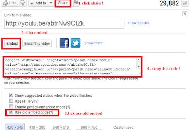 code html youtube untuk letak dalam blog