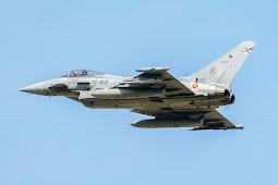 Berita Militer : Pilot Salah Pencet Tombol, Rudal AIM-120 AMRAAM Meluncur dari Eurofighter Typhoon