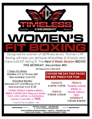 Timeless Women's FIT Boxing - new session starting