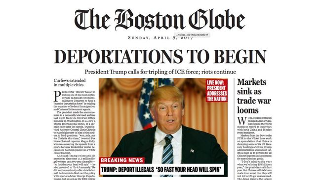 Boston Globe Mocking Donald Trump In The Parodi Headlines