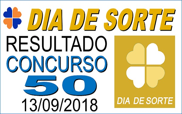 Resultado do Dia de Sorte concurso 50 de 13/09/2018 (Imagem: Informe Notícias)