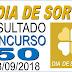 Resultado do Dia de Sorte concurso 50 (13/09/2018)