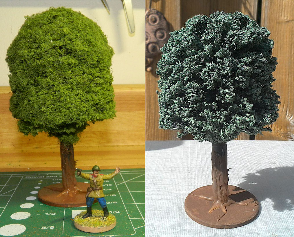 Hazdrubal's Wargaming Blog: Super Easy 28mm trees