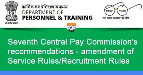 revision of pay scales - amendment of Service Rules/Recruitment Rules