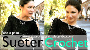 Suéter muy chic para tejer a crochet