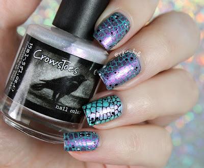 Reptilian Stamping Nail Art