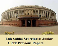 Lok Sabha Secretariat Junior Clerk Previous Papers |