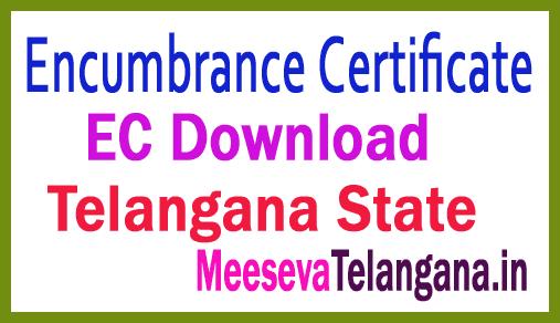Encumbrance Certificate ( EC Online ) Telangana Land Recard Free Download