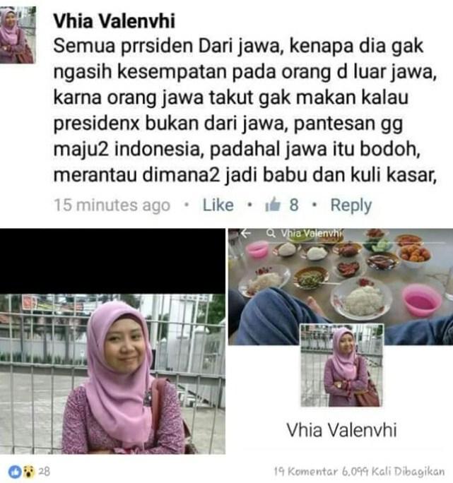 Vhia Valenvhi Hina Orang Jawa