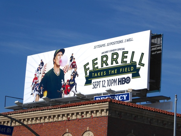 Ferrell Takes the Field HBO comedy special billboard