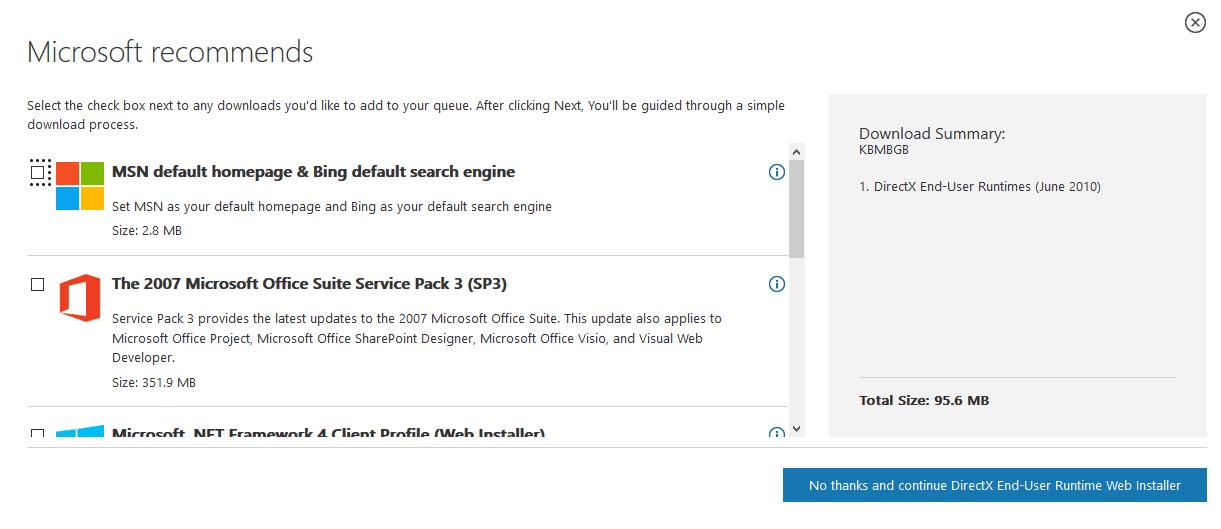 Halaman DirectX Situs Microsoft