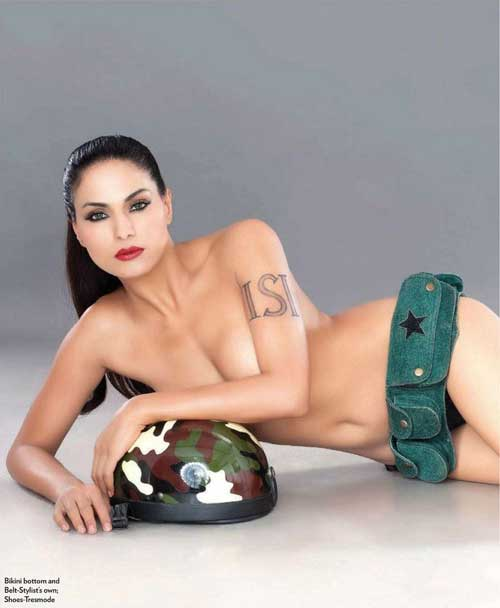 Veena Malik Nude for FHM India