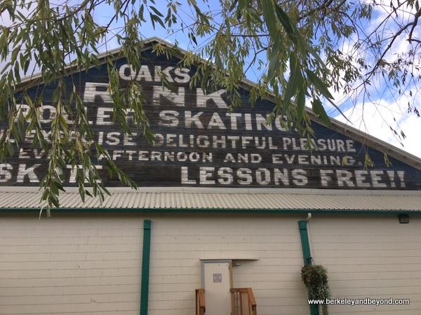 exterior of roller skating rink at Oaks Amusement Park in Portland, Oregon
