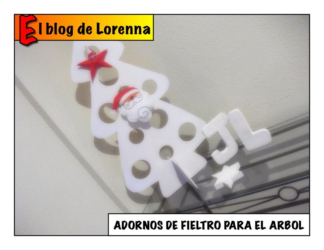 El blog de lorenna adornos caseros para navidad con fieltro for Adornos para arbol de navidad caseros