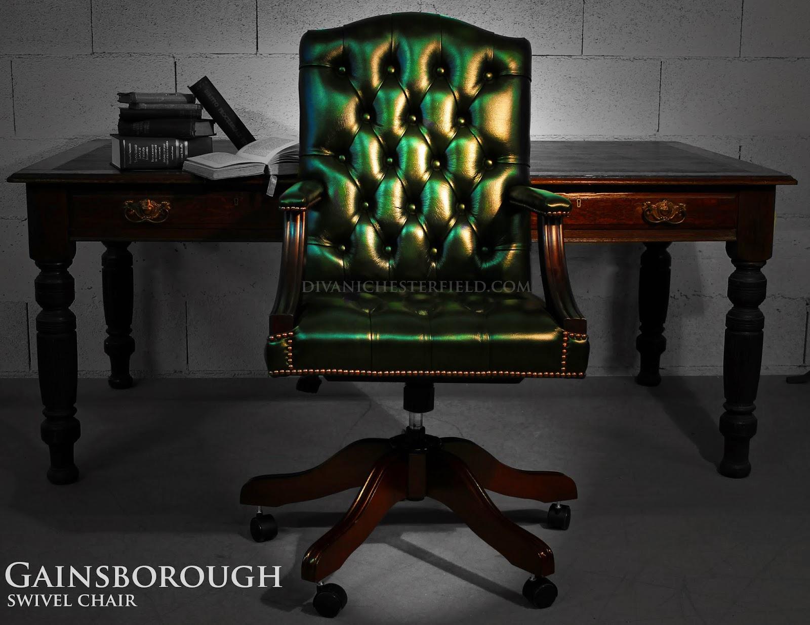 Poltrone e sedie chesterfield da ufficio in pelle nuove e for Sedia da ufficio