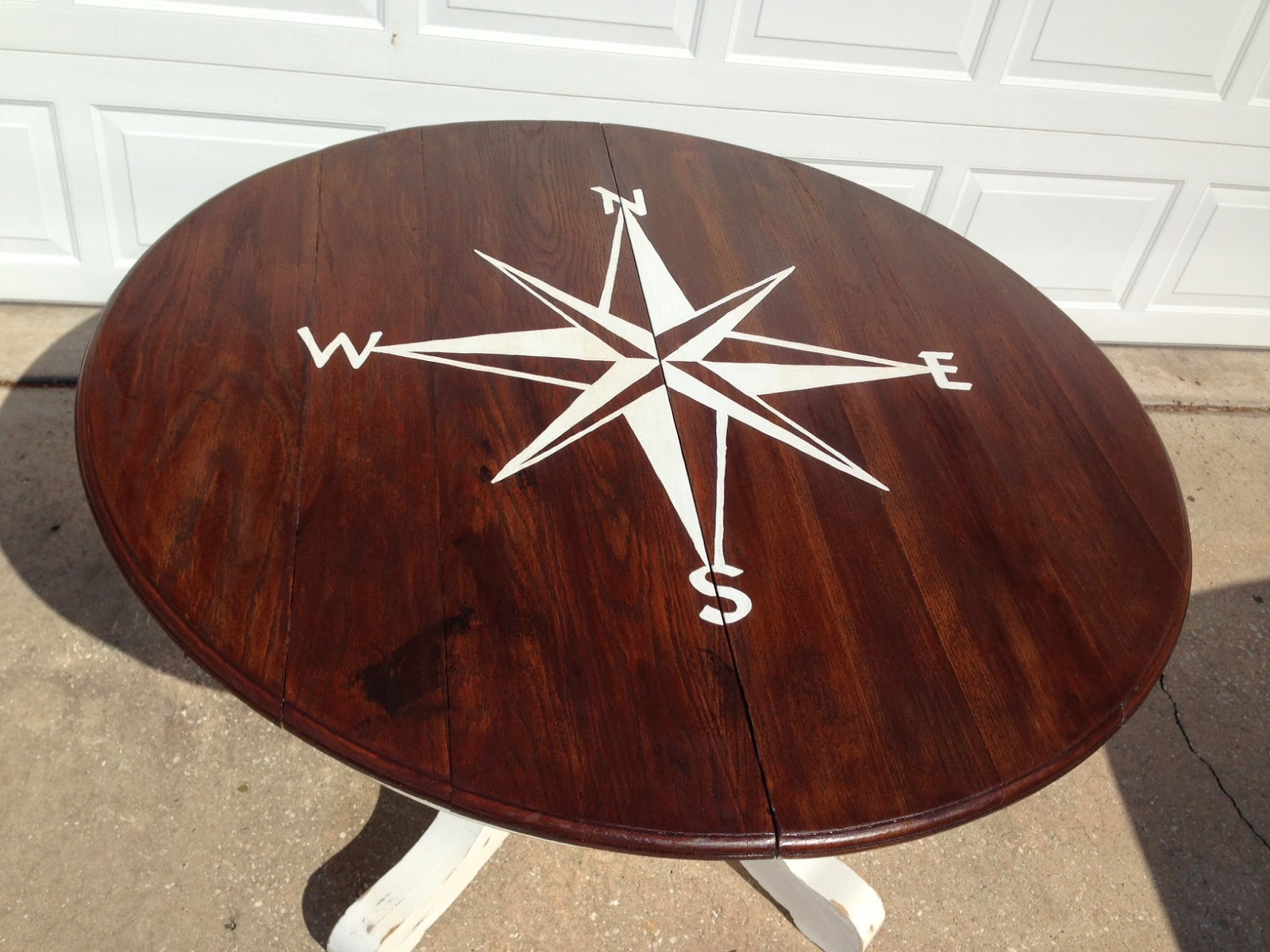 Crafty Blonde Girl Compass Rose Kitchen Table