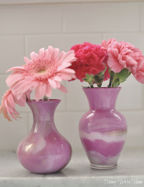 Honey We're Home: DIY (Paint Swirl Vases)