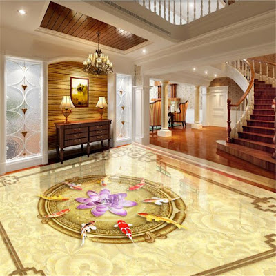 3D floor art for luxury classic living room
