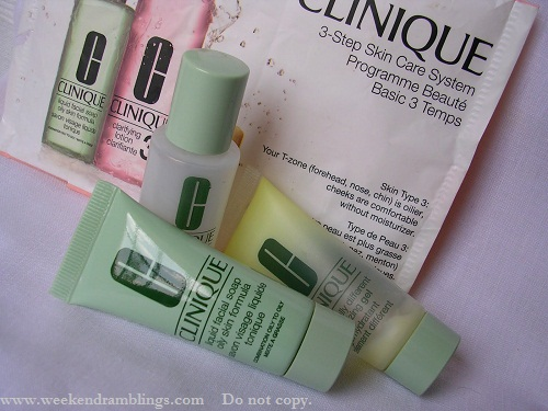Clinique 3-Step Skincare System   Liquid Facial Soap - Clarifying Toner - Dramatically Different Moisturizing Gel