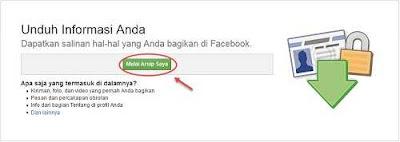 cara mengunduh data facebook gampang