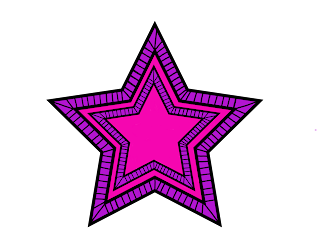 Free Printable Psychedelic Stars Clipart.