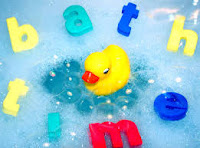 Use floating toys to make bath more fun
