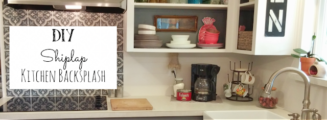 How to make your own inexpensive shiplap backsplash