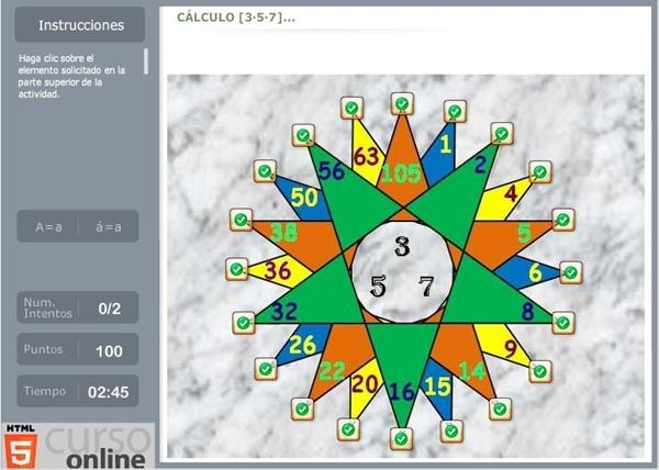Juegos Educativos Online Gratis La Estrella De Los Numeros
