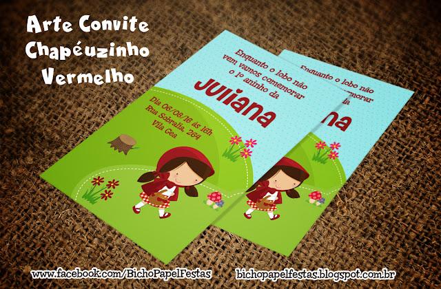 Convite Chapéuzinho Vermelho