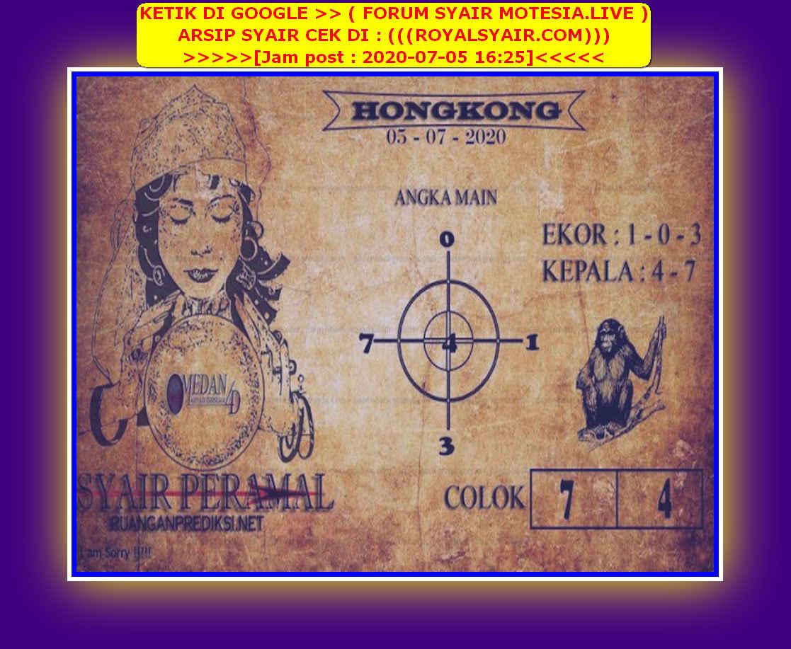 Kode syair Hongkong Minggu 5 Juli 2020 167