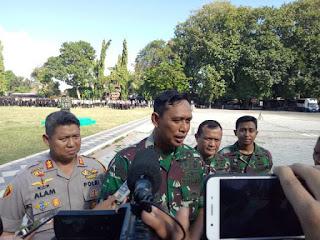 Danrem 162/WB Pimpin Apel Gabungan Ribuan Personel TNI Polri