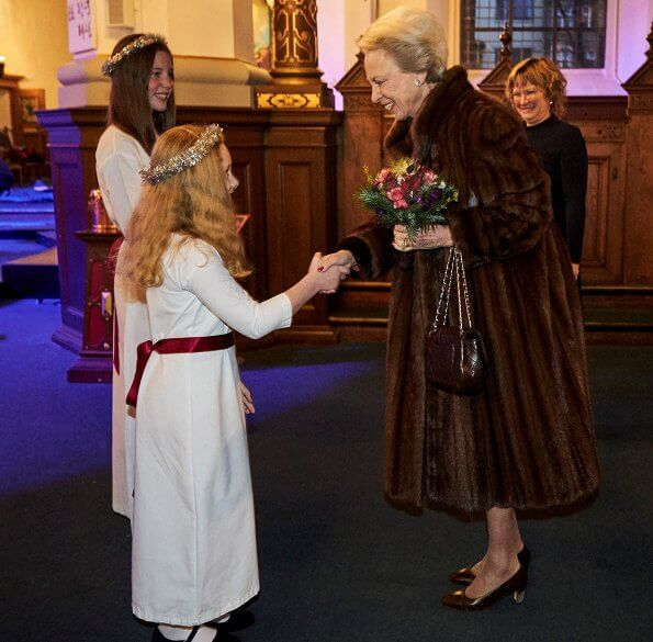Princess Benedikte attended Copenhagen Girls' Choir's (Sankt Annæ Pigekor) Christmas concert held at Helligåndskirken