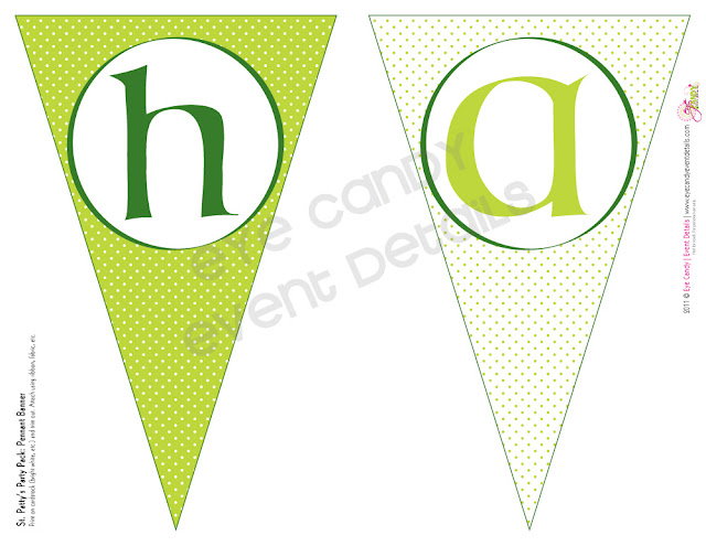 st patty's day party, st pattys day banner, st patty's day printables