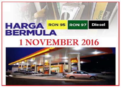Harga Minyak Terkini November 2016