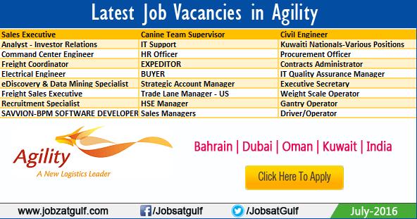 Latest Job Vacancies in Agility - Bahrain | Dubai | Oman ...