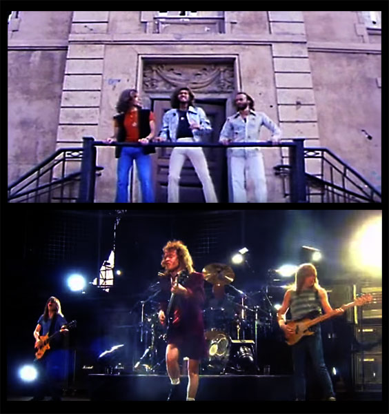 Bee Gees and AC / DC - Screen Captures From The Video