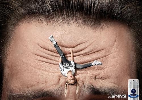 Пример печатной рекламы косметического средства от морщин