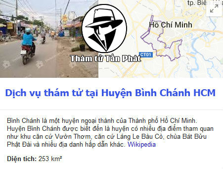 Dịch vụ thám tử huyện Bình Chánh TPHCM