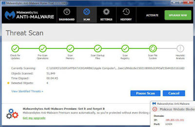scanning malwarebytes arifweb