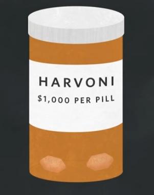 hepatitis C treatment harvoni is 94000