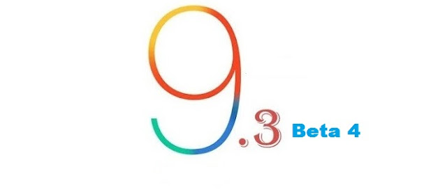 Apple has released the iOS 9.3 beta 4 to public tester's just days after the release of same beta version for developers and the final version of iOS 9.3