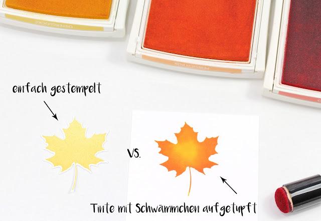 Blätter einfärben-Stampin Up-Jahr voller Farben