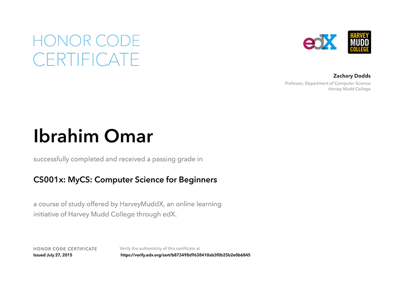 Computer Science programming, Scratch programming, CS001x, MyCS HarveyMuddX, professor Zachary Dodds
