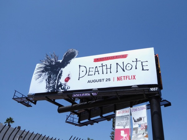 Death Note cut-out billboard