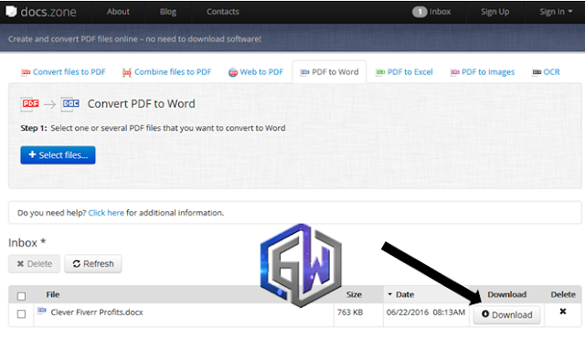convert pdf files to word format (doc docx)