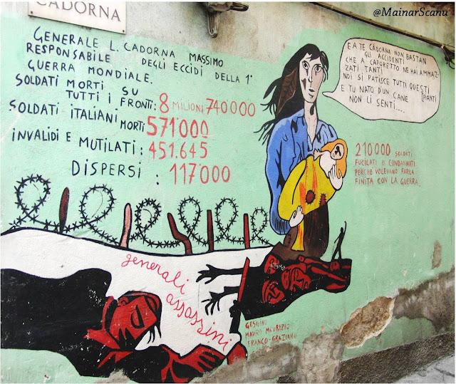 Mural Orgosolo Primera Guerra Mundial Sardenya