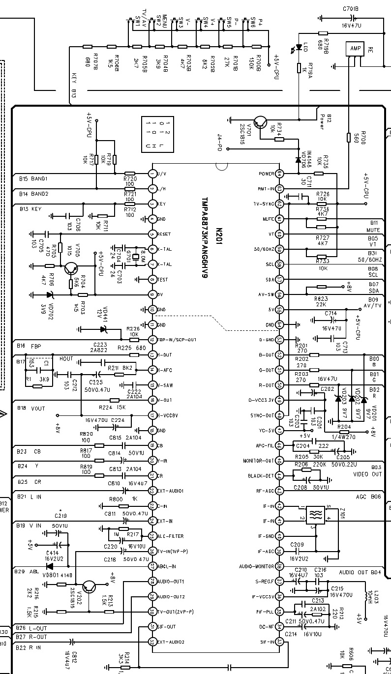 Electro Help Colour Tv Circuit Diagram Tmpa8873kpang6hv9 Syscon Cpu Full Schematic