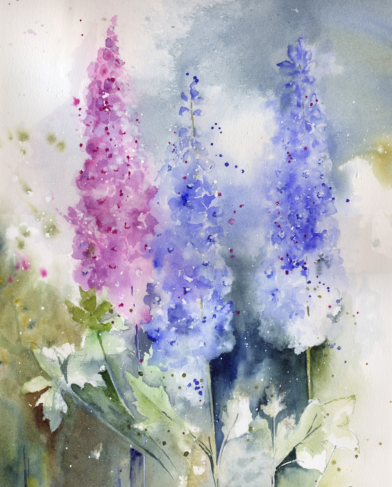 watercolor paintings images - 736×1073