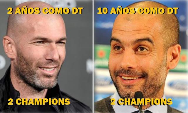 Guardiola vs. Zidane como DT: 2 champions